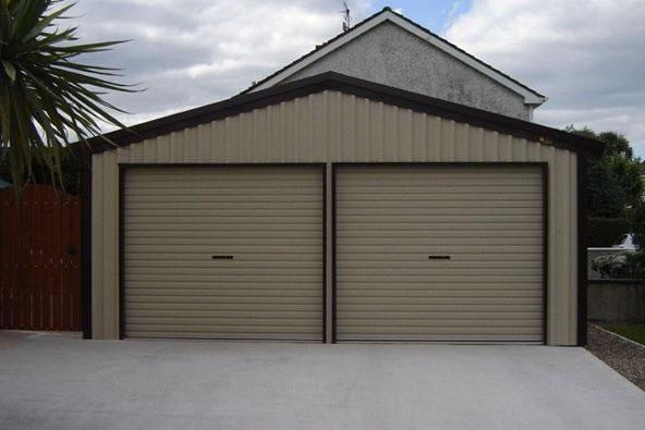 Steel Double Garage